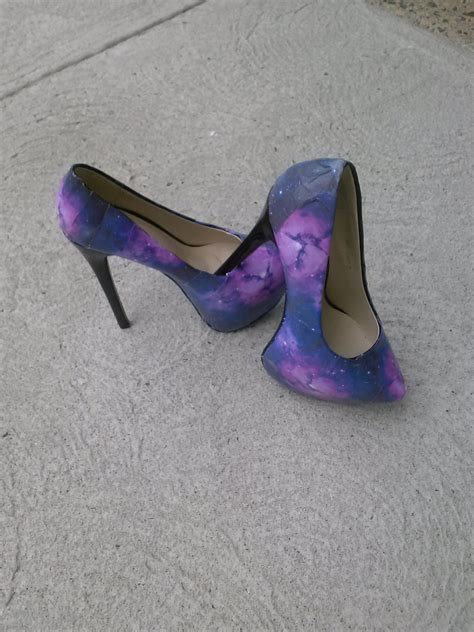 Decoupage High Heels - galaxy decoupage high heels decoupage high heels