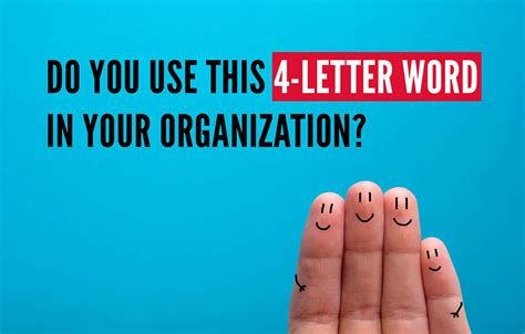 4 Letter Words Using Water do you use this 4 letter word in your organization