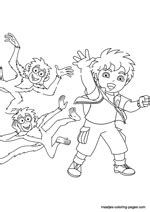 nick jr go diego go coloring pages go diego go coloring pages