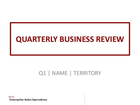 business review template high tech quarterly business review template