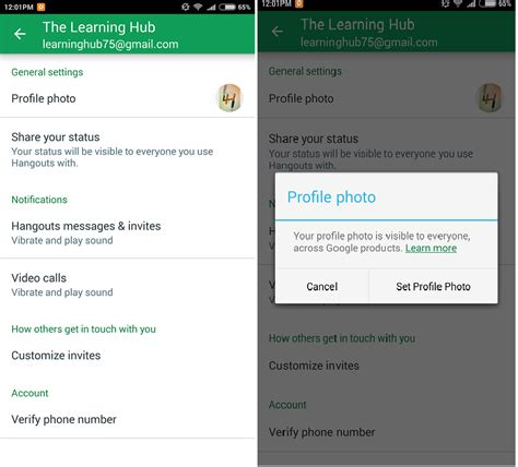 how to change account on android how to change account picture on android