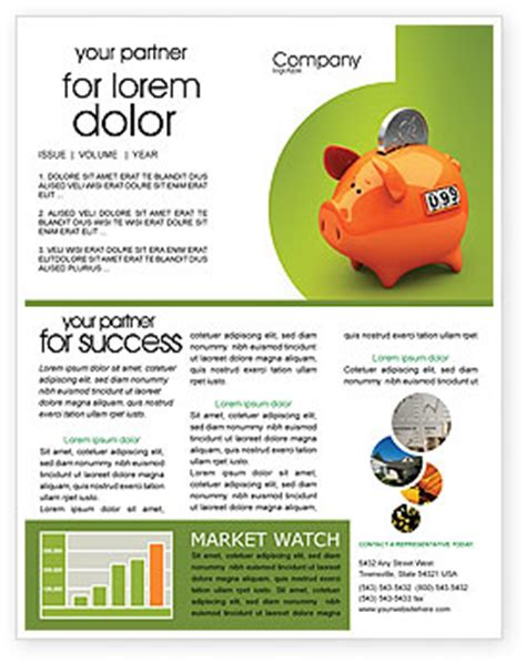 Bank Newsletter Piggy Bank Newsletter Template For Microsoft Word Adobe Indesign 02832 Now