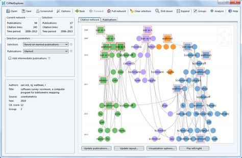 relationship mapping software vosviewer visualizing scientific landscapes