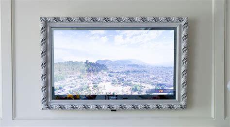 24 Wide Cabinet by Framed Vanishing Mirror Tv Lumidesign