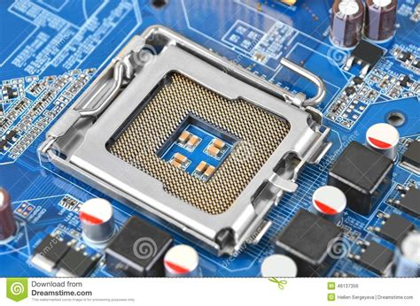 Sockel A Cpu by Computer Motherboard Cpu Socket Dof Stock Photo Image 46137356