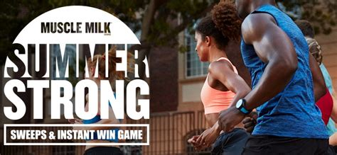 Muscle Milk Instant Win - muscle milk brand summer strong sweeps instant win game sweepstakesbible