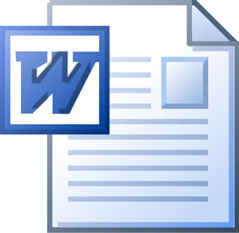 Word File To Image file ms word doc icon svg wikimedia commons