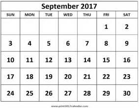 Calendar 2017 September School Print September 2017 Calendar