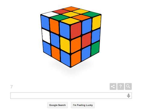 doodle do cubo magico celebra 40 anos do cubo de rubik doodle