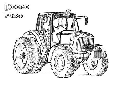 Download Coloring Pages John Deere Coloring Pages John Deere Tractor Coloring Pages To Print