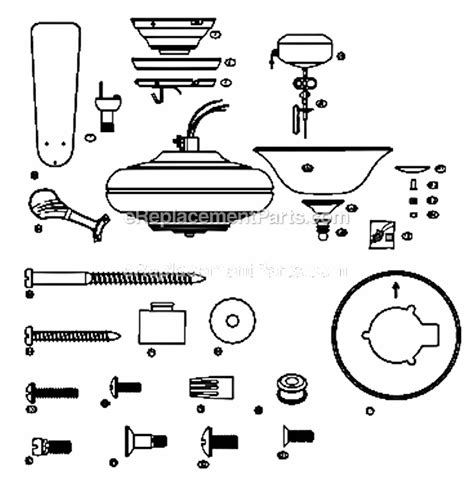 hunter ceiling fan blades replacement parts hunter 23269 parts list and diagram ereplacementparts com
