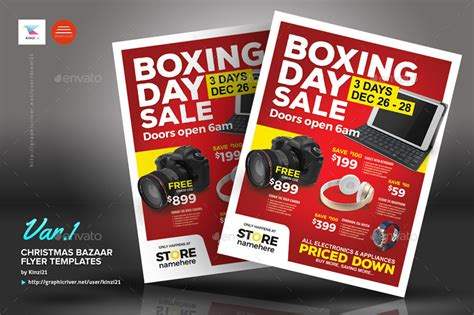Boxing Day Sale Flyer Templates By Kinzi21 Graphicriver Sales Flyer Template