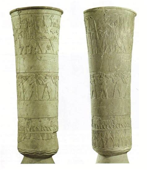 Warka Vase History by Carved Vessel From Uruk Ancient Near Eastern Sumerian C