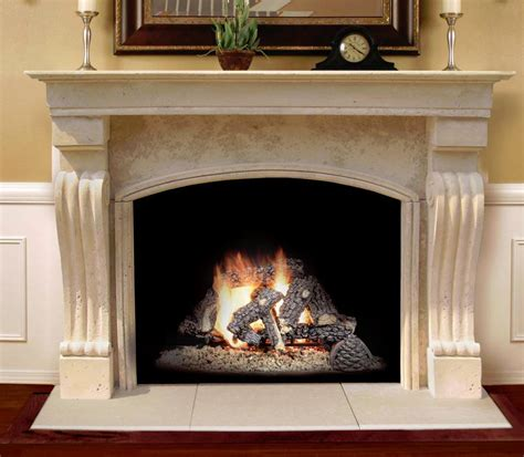 arched fireplace mantels the travertino arch is a rugged mantel