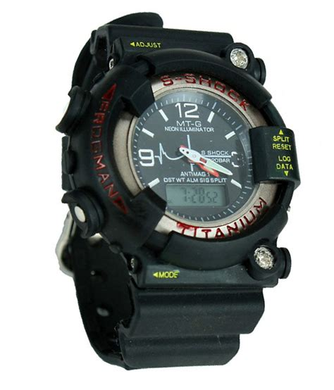 S Shock Black by S Shock Black Sport Wrist For Price In India