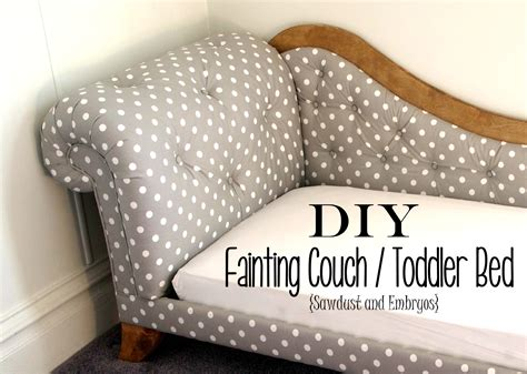 diy kids couch toddler bed fainting couch tufting upholstery