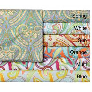 expressions paisley printed easy care sheet set