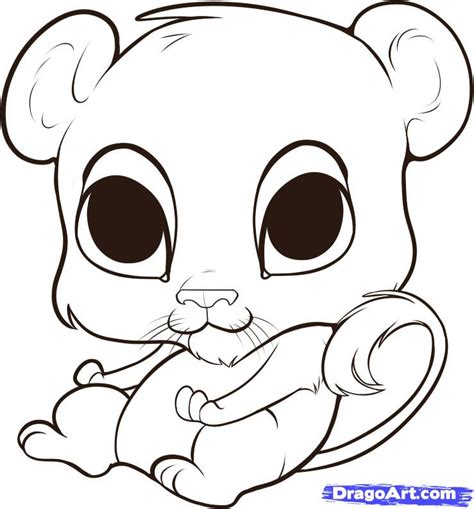 cute lion coloring page how to draw a cute lion step by step safari animals