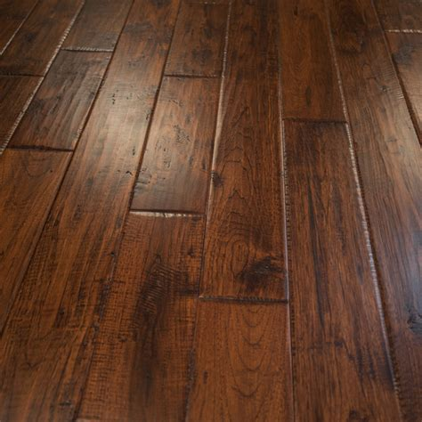 hurst hardwoods hickory hand scraped prefinished solid wood flooring 5 quot x3 4 quot canyon crest