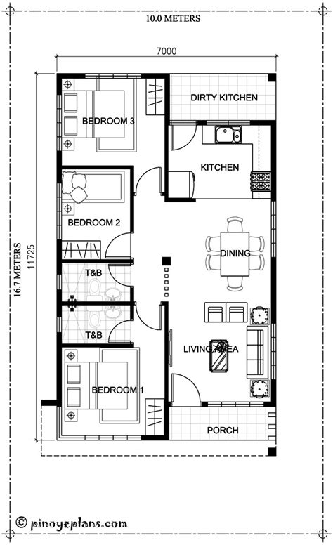 average square meters 4 bedroom house three bedroom house plan with total floor area of 82