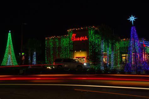 fil a christmas lights in ta stories fil a