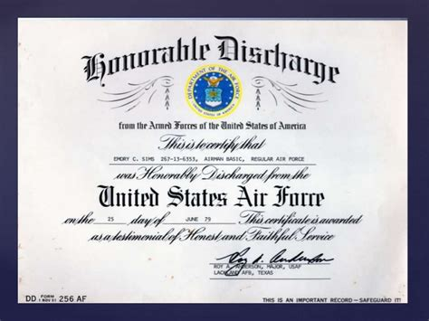 honorable discharge and form dd 214