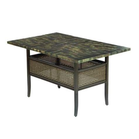 Hton Bay Salem 64 In X 40 In High Patio Dining Table High Patio Dining Table
