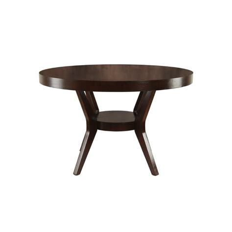 furniture of america supnet dining table in espresso