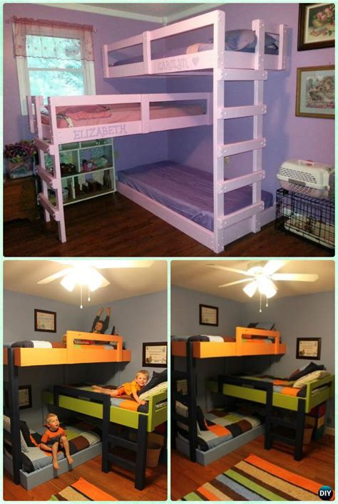 bunk bed plans for kids diy kids bunk bed free plans picture instructions