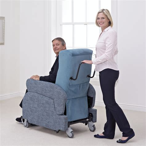 reclined nursing the porta chair the mobile riser recliner chair