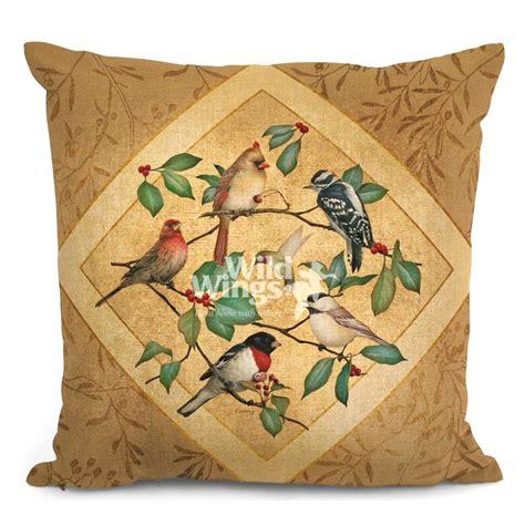 Decorative Pillows Set Of 4 18 Quot Summer Birds Ii Decorative Square Throw Pillows Set