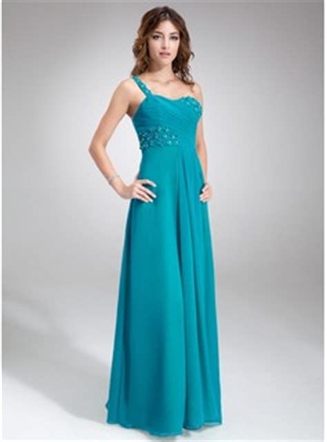 junior bridesmaid dresses color jade a line princess one shoulder floor length chiffon
