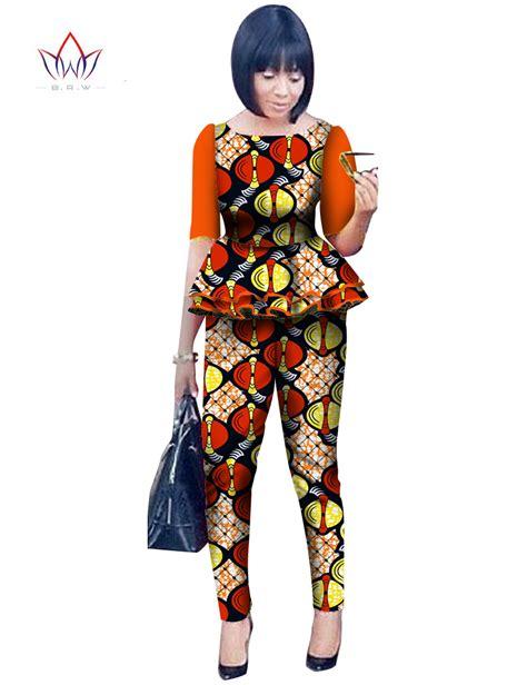 africa ladies print wares african print tops pants dashikis 2 piece set