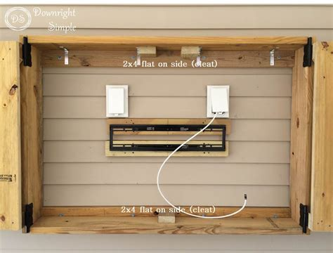 outdoor stereo cabinet ideas downright simple outdoor tv cabinet