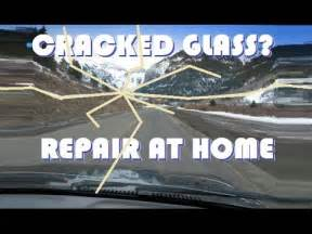 how to repair glass cracks repair a cracked windshield at home youtube