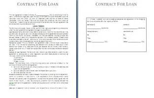 Lending Money Contract Template Free by Loan Contract Template Free Contract Templates