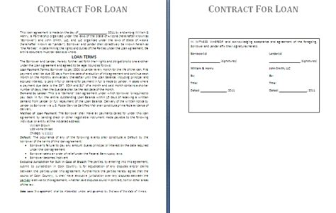Free Financial Loan Agreement Template Financial Loan Agreement Template 6 Loan Contract Slereport Template Document Report Template