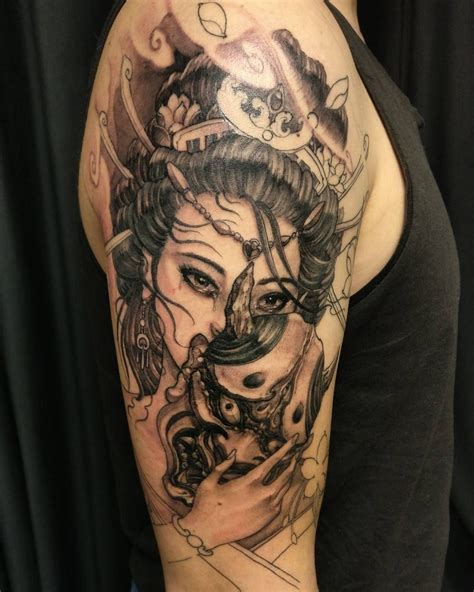 irezumi tattoo geisha and hannya in progress chronicink asiantattoo