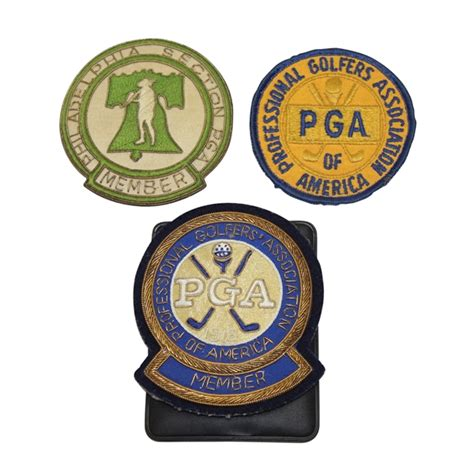 pga of america sections lot detail lot of three crest patches philadelphia