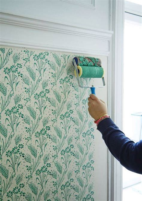 how to paint a wall using a roller the best technique you won t believe it s not wallpaper floral patterns