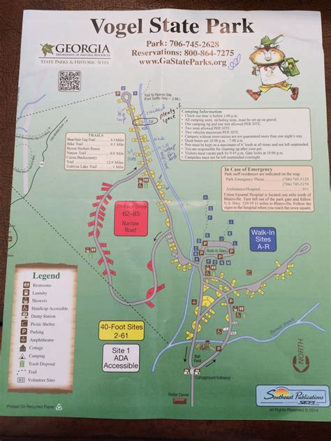 Cabin Park Map by Cing At Vogel State Park Crafty Cing