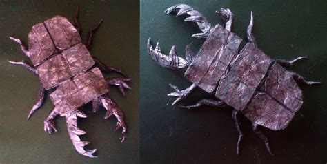 Origami Stag Beetle - stag beetle origami by palaeorigamipete on deviantart