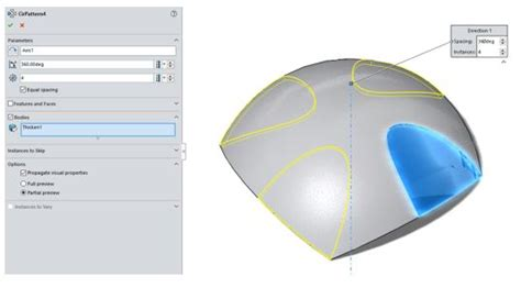 solidworks pattern of bodies how to model the beau jeu ball in solidworks