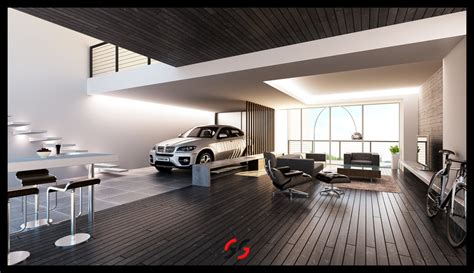 garage living space super stylish living rooms