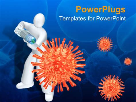 template free ppt virus powerpoint template white human with syringe injecting