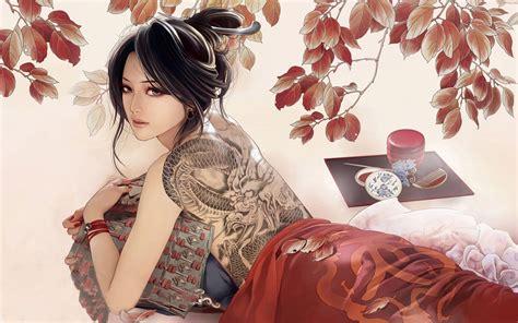pinterest wallpaper girl anime japanese geisha art japanese illustration