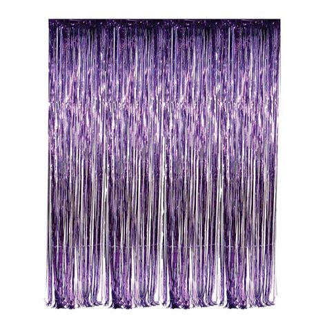 mylar fringe curtain dr69275 purple foil fringe curtain