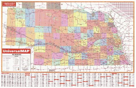 nebraska county map map of nebraska counties
