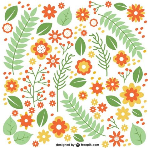 leaves pattern freepik flat flowers and leaves pattern vector free download