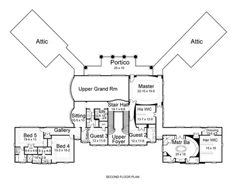 gatsby mansion floor plan colonial house plan with 5 bedrooms and 5 5 baths plan 6150